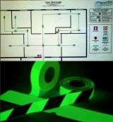 План эвакуации и фотолюминесцентная система экстренной эвакуации