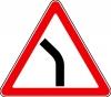 """Дорожный знак 1.11.2 """"Опасный поворот"""" (влево), под заказ 5 дней"""