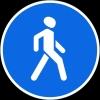 """Дорожный знак 4.5 """"Пешеходная дорожка"""""""