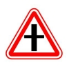 """Дорожный знак 2.3.1 """"Пересечение с второстепенной дорогой"""", под заказ 5 дней"""