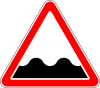 """Дорожный знак 1.16 """"Неровная дорога"""", под заказ 5 дней"""