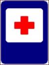 """Дорожный знак 7.1 """"Пункт первой медицинской помощи"""""""