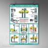 П1-А-сервис Безопасность в авторемонтной мастерской. Электромеханический подъемник – 1 л. (45х60 см, лам., нелам.)