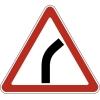 """Дорожный знак 1.11.1 """"Опасный поворот"""" (направо), под заказ 5 дней"""