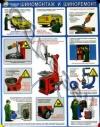П1-Шина Безопасность в авторемонтной мастерской. Шиномонтаж и шиноремонт – 1 л. (45х60 см, лам., нелам.)